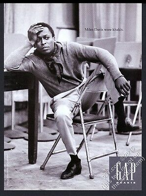 1994 Miles Davis photo The Gap fashion clothes store vintage print ad