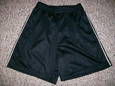 Youths ATHLETIC SHORTS Black Size Large EUC