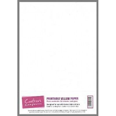 Crafters Companion printable vellum paper - 15 sheets