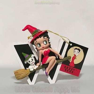 Betty Boop 6763 LETTER W for Witch Resin Figurine, Hang or Stand