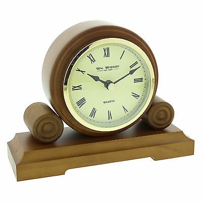 Small Wooden Dark Oak Finish Mantel Clock.new And Boxed.wood Mantle