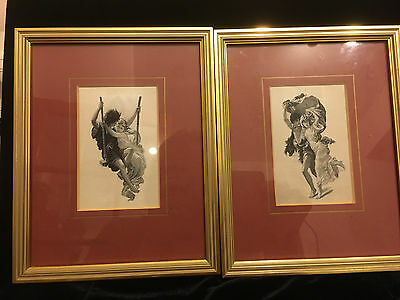 A Pair Of Monochrome J & J Cash 'french Series' 21 X 17Cm Framed Glazed Pictures