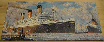 Wooden Jigsaw Puzzle White Star Line Rms Majestic & Olympic Liners