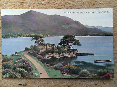 POSTCARD.VALENTINE'S.McCARTHY MORE'S CASTLE,KILLARNEY.IRELAND.NOT POSTED.