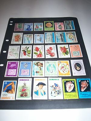 Nice lot of  Dominica Stamps Removed from Album DA18