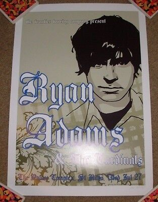 RYAN ADAMS concert gig tour poster ST KILDA, AUSTRALIA 7-27-05 and the cardinals