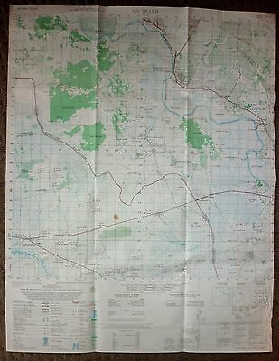 6231 iii - AN THANH - US MAP - 1971 - Invasion of Cambodia - VIETNAM WAR