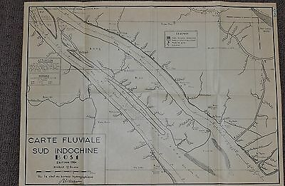 FRENCH MAP - 1954 - Sud Indochine - B051 - CO CHIEN RIVER OPS, Vietnam War - 169