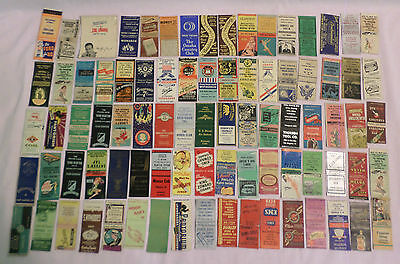 Lot Of 84 Assorted 22 Different States Empty Match Book Covers
