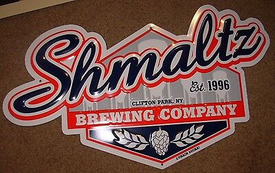 SHMALTZ BREWING He'brew Bittersweet Lennys METAL TACKER SIGN craft beer brewery