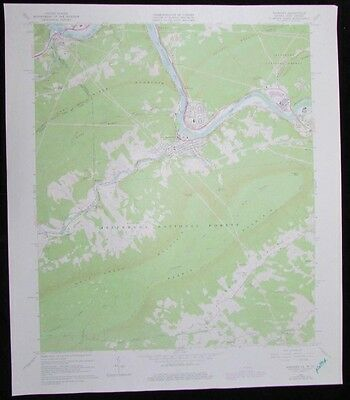 Narrows Virginia West Virginia Jefferson Forest vintage 1977 old USGS Topo chart