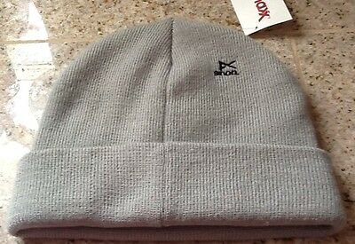 NEW WITH TAGS GRAY ACRYLIC BEANIE HAT FROM ANON WiITH ANON LOGO