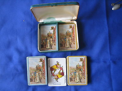 Playing Cards From Way Back 2 Sets + Jokers In Case Made By W.p Racine  Wis. Usa