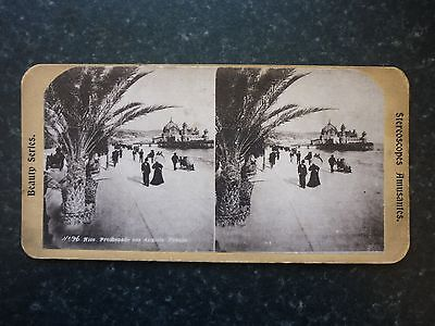 Stereoview Nice Early Image Of Nice Promenade Des Anglais France Card No 96