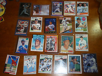 Vintage Major Leauge Baseball Mlb Card Collectin  Wade Boggs Darryl Srawberry