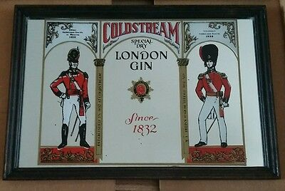Vintage Coldstream Special Dry London Gin Advertising Mirror