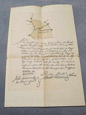 "1785 SURVEY ""MT. PLEASANT"" WASHINTON CO  PA ARCHIVES 3RD SERIES ngm"