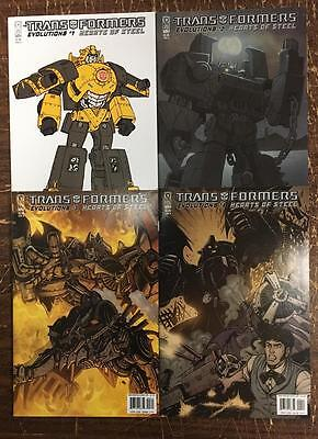 Transformers Evolutions Hearts Of Steel #1 2 3 4 Comic Set (4 Comic Set) Idw