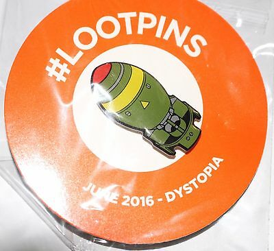 Loot Crate Exclusive: Fallout Shelter Bomb Pin-June 2016- Dystopia-#Lootpins NEW