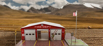 """BK 4314 1:43 Scale  """"Fire Department"""" Photo Real Scale Building Kit"""