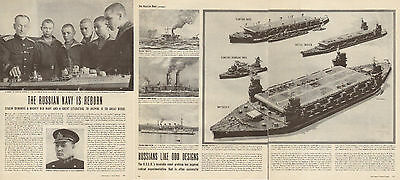 1945 vintage WW2 Article The Russian Navy is Reborn Soviet Naval 4 pages 120216
