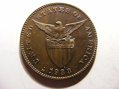 Philippines Centavo, 1933, Uncirculated - Full Ear