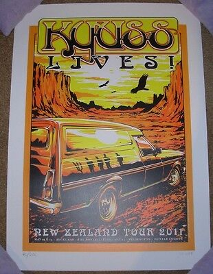 KYUSS LIVES concert gig poster NEW ZEALAND 2011 Tour queens stone age joe whyte
