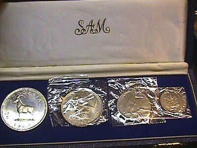 RHODESIA 4 Coins 1964 Proof Set. KM# PS2 FREE SHIPPING.