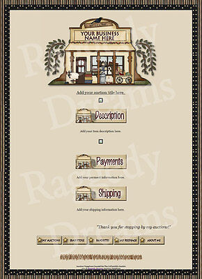 Rustic General Store  Auction Template B2Go Free!