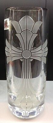 $8,000 Baccarat FRANCE Crystal Vase MIB Chrome Hearts MANSFIELD CROSS engraving