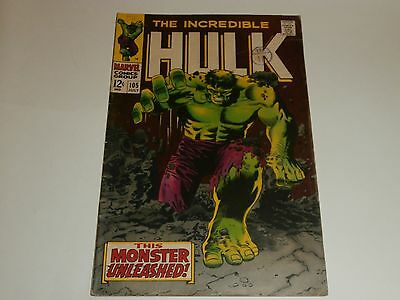 Marvel Comics The Incredible Hulk 105 July 1968 The Missing Link