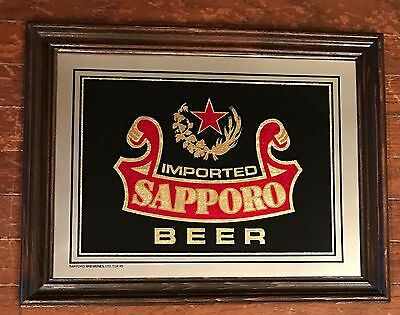 Sapporo Imported Beer  Advertising Mirror Sign