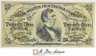 1863 25 Cents 3rd Issue Fractional Currency *363