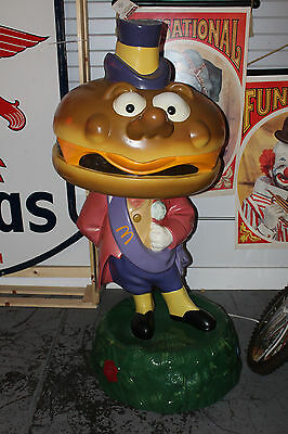 1970s Original MAYOR MC CHEESE Statue 5ft Playland Mcdonald Charaters Life size
