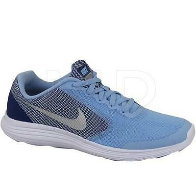 Girl's Youth NIKE REVOLUTION 3 Blue/Navy Athletic Sneakers Casual Shoes New