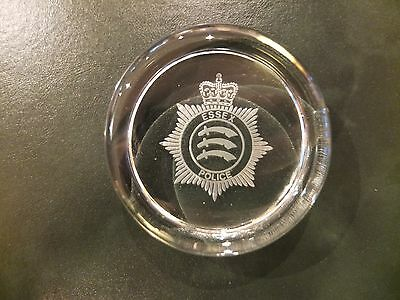 Essex Police glass paperweight