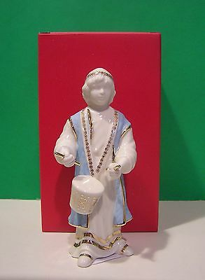 LENOX FIRST BLESSING DRUMMER BOY Nativity sculpture NEW in BOX