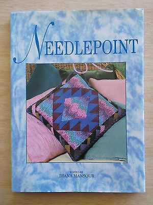 Needlepoint~Diana Mansour~Projects~Techniques~Cushions~Rugs~Belts~Bags~88pp HBWC