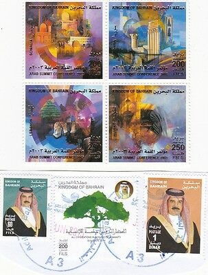 BAHRAIN Stamps Incl Arab Summit Conference 2003 Set of Four + Three others