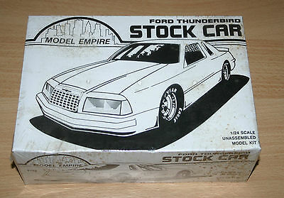 23-6182 MONOGRAM 1/24th SCALE FORD THUNDERBIRD STOCK CAR PLASTIC MODEL KIT