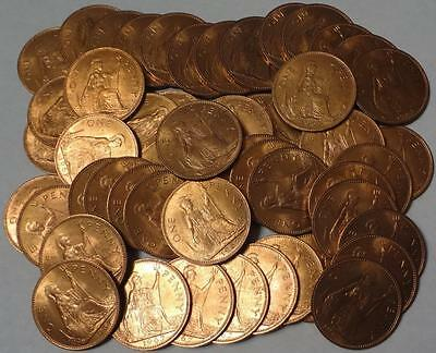 1967 Great Britain, Penny, Lot Of 50 Coins, High Grade
