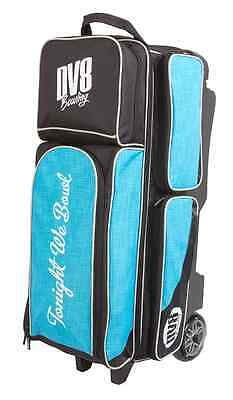 DV8 Circuit 3 Ball Bowling Roller Bag Color Teal New for 2016-17 Season