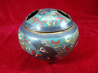Chinese 19th century nice cloisonne cover censer (Da Ming)  o2675