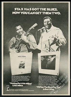 1973 Little Milton Albert King photo Stax Records vintage print ad