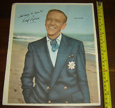 FRED ASTAIRE rare ARGENTINA Canal TV  insert  Poster vintage 1960