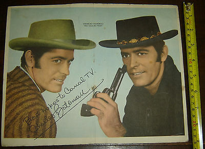 Two Faces West CHARLES BATEMAN  ARGENTINA Canal TV  insert  Poster vintage 1960