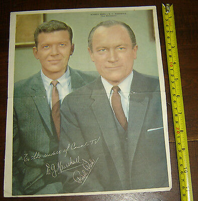 the defenders ROBERT REED E.G. MARSHALL ARGENTINA Canal TV Poster vintage 1960