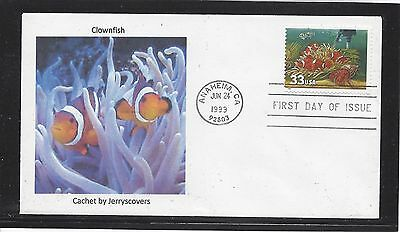 Clownfish Fdc 1999 Anaheim, California Only One Made