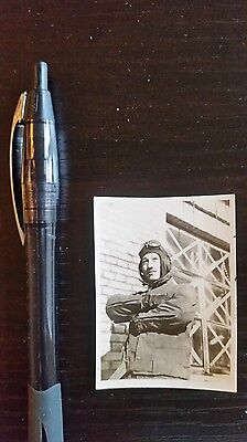 Original Wwii Japanese Photo: Army Air Force Fighter Pilot!!
