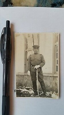 Original Wwii Japanese Photo: Army Soldier With War Sword!!